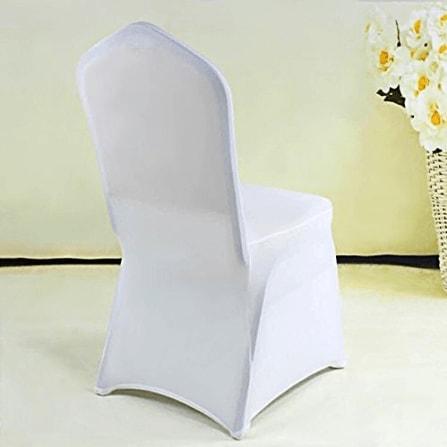 couverture de chaise blanche de mariage x 50 d coration mariage chic mon mariage parfait. Black Bedroom Furniture Sets. Home Design Ideas
